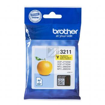Brother Tintenpatrone gelb (LC-3211Y)