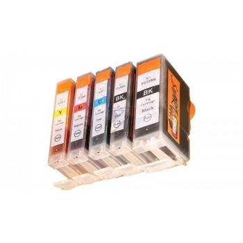 5 Compatible Ink Cartridges to Canon PGI-5 / CLI-8  (BK, PHBK, C, M, Y)