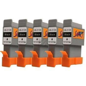 5 Ersatz Patronen kompatibel zu BCI-21 / BCI-24, Schwarz