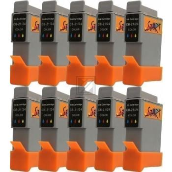 10 Ersatz Patronen kompatibel zu BCI-21 / BCI-24, Farbe