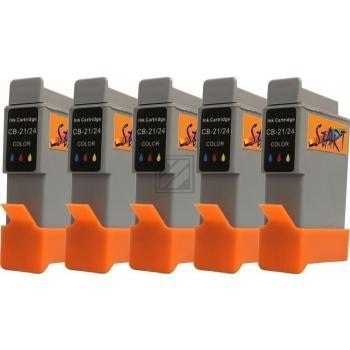 5 Ersatz Patronen kompatibel zu BCI-21 / BCI-24, Farbe