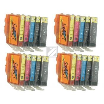 20 Compatible Ink Cartridges to Canon BCI-3 / BCI-6  (BK, PHBK, C, M, Y) (4|4|4|4|4)