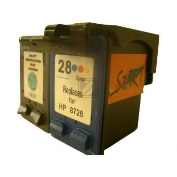 2 Compatible Ink Cartridges to HP HP27 + HP28  (BK)