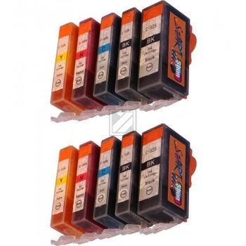 10 Compatible Ink Cartridges to Canon PGI-525 / CLI-526  (BK, PHBK, C, M, Y)