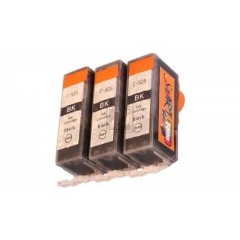 3 Compatible Ink Cartridges to Canon PGI-525 (BK)