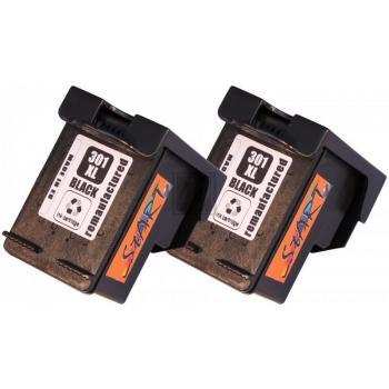 2 Ersatz Tintenpatronen kompatibel zu HP 301XL Schwarz