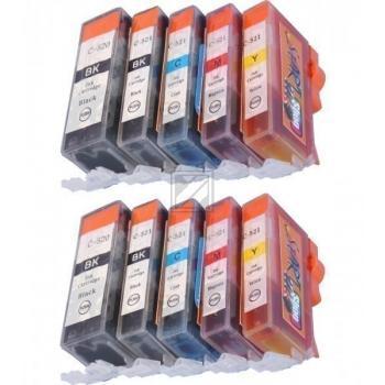 10 Ersatz CHIP Patronen kompatibel zu PGI-520 / CLI-521