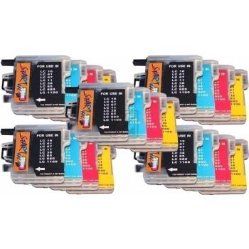 20 Compatible Ink Cartridges to Brother LC980 / LC1100  (BK, C, M, Y)