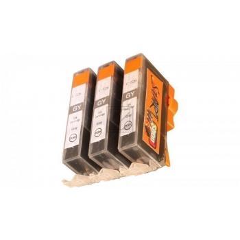 3 Ersatz CHIP Patronen kompatibel zu CLI-521 Grau