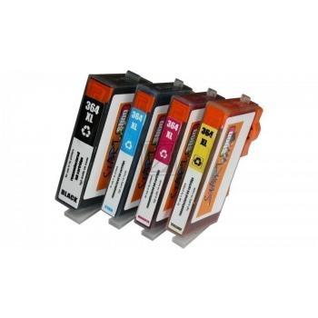 4 Ersatz Chip Tintenpatronen kompatibel zu HP 364XL mit Füllstandsanzeige