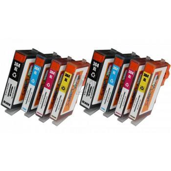 8 Ersatz Chip Tintenpatronen kompatibel zu HP 364XL mit Füllstandsanzeige