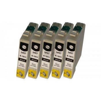 Nur BK! 5 Ersatz Chip Patronen kompatibel zu Epson 18XL, T1811 Schwarz