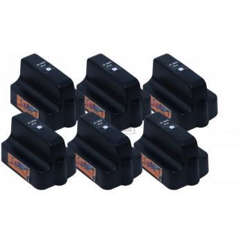 Nur Schwarz! 6 Ersatz Patronen kompatibel zu HP 363 BK