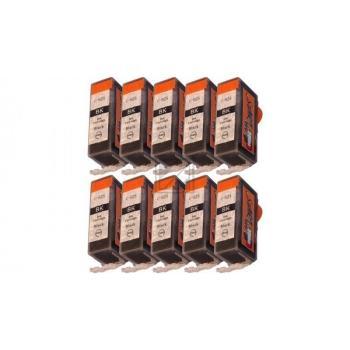 Nur Schwarz! 10 Ersatz CHIP Patronen kompatibel zu Canon PGI-525 Schwarz