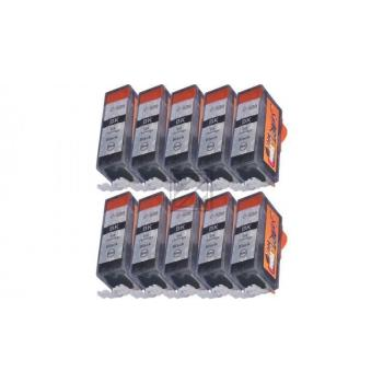 10 Compatible Ink Cartridges to Canon PGI-520 / CLI-521  (BK)