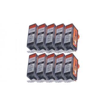 Nur Schwarz! 10 Ersatz CHIP Patronen kompatibel zu Canon PGI-520 Schwarz