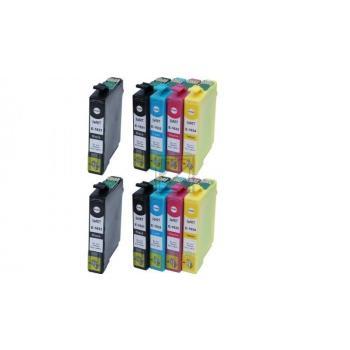 10 Ersatz Chip Patronen kompatibel zu Epson 16XL, T1631, T1632, T1633, T1634, T1636