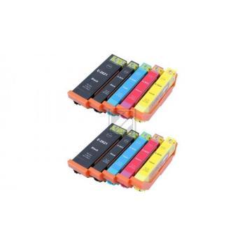 10 Ersatz Chip Patronen kompatibel zu Epson 26XL, T2621, T2631, T2632, T2633, T2634, T2636