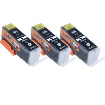 3 Compatible Ink Cartridges to Canon PGI-550 (BK) XL