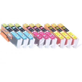 9 Compatible Ink Cartridges to Canon PGI-550 / CLI-551  (C, M, Y) XL