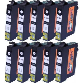 10 XL Ersatz Chip Patronen kompatibel zu Epson T1281 Schwarz Druckerpatronen