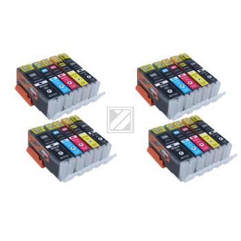 20 XL Ersatz Chip Patronen kompatibel zu Canon PGI-550BK XL Schwarz, CLI-551BK XL Foto-Schwarz, CLI-551C XL Cyan, CLI-551M XL Magenta, CLI-551Y XL Gelb