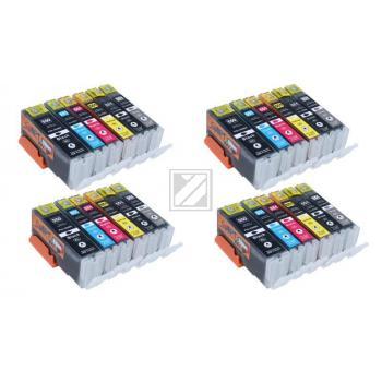24 XL Ersatz Chip Patronen kompatibel zu Canon PGI-550BK XL Schwarz, CLI-551BK XL Foto-Schwarz, CLI-551C XL Cyan, CLI-551M XL Magenta, CLI-551Y XL Gelb, CLI-551GY XL Grau