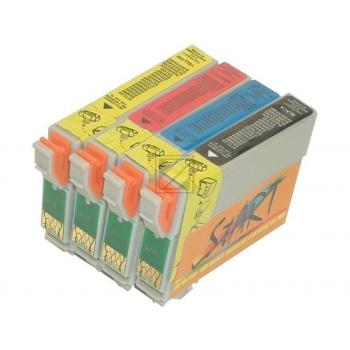 4 Compatible Cleaning Cartridges to Epson T0711 - T0714  (BK, C, M, Y)