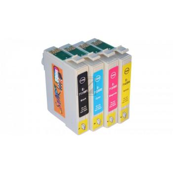 4 Compatible Cleaning Cartridges to Epson T0551 - T0554  (BK, C, M, Y)