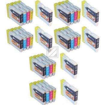 30 Compatible Ink Cartridges to Brother LC970 / LC1000  (BK, C, M, Y) (12 6 6 6)