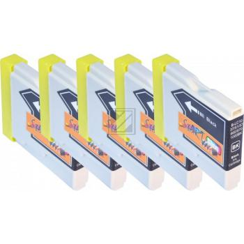 5 Compatible Ink Cartridges to Brother LC970 / LC1000  (BK)