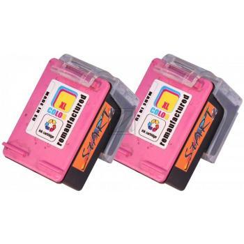 2 Ersatz Tintenpatronen kompatibel zu HP 302XL Farbe, dreifarbig