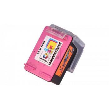 Ersatz Tintenpatrone kompatibel zu HP 62XL Farbe, dreifarbig