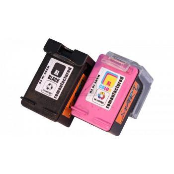 2 Ersatz Tintenpatronen kompatibel zu HP 62XL Schwarz, Farbe, dreifarbig