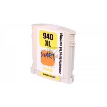 Ersatz Chip Tintenpatrone kompatibel zu HP 940XL Gelb - Neu mit Füllstandsanzeige