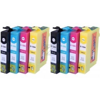 8 Compatible Ink Cartridges to Epson T1291 - T1294  (BK, C, M, Y)