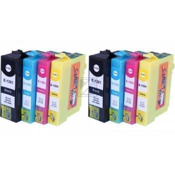 8 Compatible Ink Cartridges to Epson T1301 - T1304  (BK, C, M, Y)
