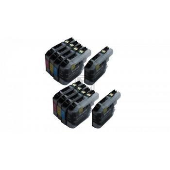 10 XL Ersatz Chip Patronen kompatibel zu Brother LC-123BK XL Schwarz, LC-123C XL Cyan, LC-123M XL Magenta, LC-123Y XL Gelb