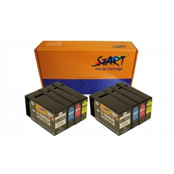8 Ersatz CHIP Tintenpatronen kompatibel zu Canon PGI-1500XL Schwarz, Cyan, Magenta, Gelb