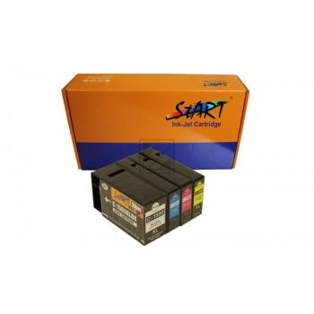 4 Ersatz CHIP Tintenpatronen kompatibel zu Canon PGI-1500XL Schwarz, Cyan, Magenta, Gelb