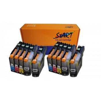 10 XL Ersatz Chip Patronen kompatibel zu Brother LC-223 LC-225 LC-227 XL - für alle Firmware Versionen - BK Schwarz, C Cyan, M Magenta, Y Gelb