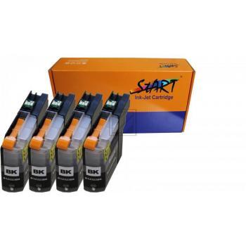 Nur BK, 4 XL Ersatz Chip Patronen kompatibel zu Brother LC-223 LC-225 LC-227 XL - für alle Firmware Versionen- BK Schwarz