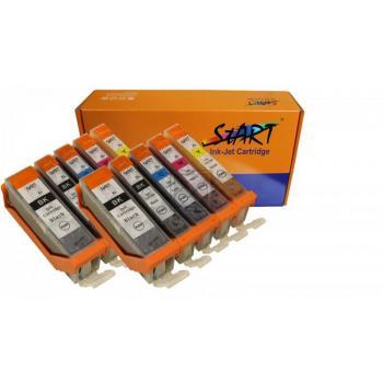 10 XL Ersatz Chip Patronen kompatibel zu Canon PGI-570 PGBK XL Schwarz, CLI-571BK XL Foto-Schwarz, CLI-571C XL Cyan, CLI-571M XL Magenta, CLI-571Y XL Gelb