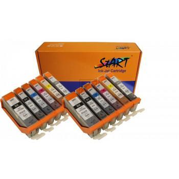 12 XL Ersatz Chip Patronen kompatibel zu Canon PGI-570 PGBK XL Schwarz, CLI-571BK XL Foto-Schwarz, CLI-571C XL Cyan, CLI-571M XL Magenta, CLI-571Y XL Gelb, CLI-571GY XL Grau