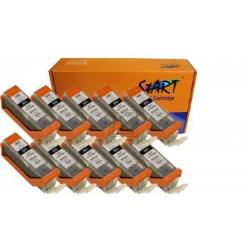 Nur Schwarz! 10 XL Ersatz Chip Patronen kompatibel zu Canon PGI-570 PGBK PGI-570PGBK XL Schwarz, PGI 570 PG BK