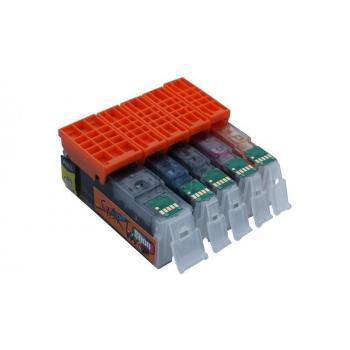 30 XL Ersatz Chip Patronen kompatibel zu Canon PGI-570 PGBK XL Schwarz, CLI-571BK XL Foto-Schwarz, CLI-571C XL Cyan, CLI-571M XL Magenta, CLI-571Y XL Gelb