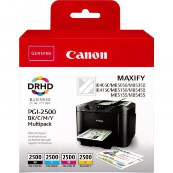 Canon Tintenpatrone Blister gelb cyan magenta schwarz (9290B004, PGI-2500)