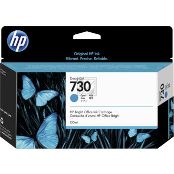 HP Tintenpatrone cyan SC (P2V62A, 730)
