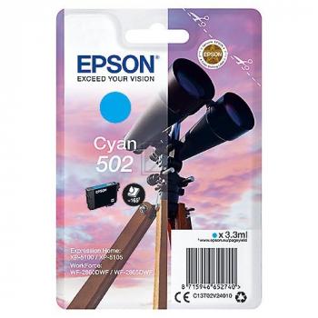 Epson Tintenpatrone cyan (C13T02V24010, 502)