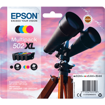 Epson Tintenpatrone gelb cyan magenta schwarz HC plus (C13T02W64010, 502XL)